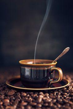coffee on a mountain o' beans