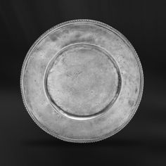 Pewter Charger Plate handcrafted by artisans of La Bottega del Peltro - Italian Pewter Dinnerware - Handmade in Italy - Online Store Pewter Plates, Engraved Plates, Charger Plates, A Table, Dinnerware, Table Accessories, Antiques, Tableware, Craftsman