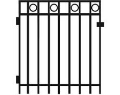 "Gilpin Inc. Deco 6' x 3' x 4"" Gate"