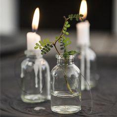 Flaske - Mini - Sort ophæng - Til blomst |  - Klik for mere information