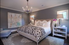 Benjamin Moore Coventry grey. Bedroom and or living room idea