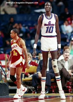 Tallest Player: NBA player Manute Bol