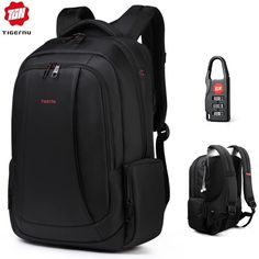 Anti theft nylon backpack with USB and padlock.waterproof and double layer of zipper.have laptop/computer Inter layer Interior .Large capacity, Earphone hole design and USB charging port . Best Laptop Backpack, Travel Backpack, Fashion Backpack, Laptop Bags, North Face Backpack, Travel Bags, Usb, Nylons, Travel Store