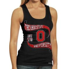 Ohio State Buckeyes Ladies Black Boy Beater Tank Top