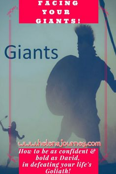 Facing Your Giants! Encouragement for how to be as confident & as bold as David, in defeating your life's Goliath. Gods Strength, Inner Strength, Story Of David, Overcoming Obstacles, David And Goliath, Christian Girls, Christian Encouragement, Bible Stories, Breakup