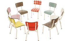 circle of vintage chairs | Les Gambettes kids chairs are available in the UK from Eenymeeny Kids ...