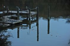 Solitude; dock; soft October light; Churn Creek; Worton, Maryland, USA.  October 2012.