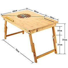 Nnewvante Large Size Laptop Desk Bamboo Bed Tray Adjustable Foldable Lap Desk Bed Serving w' Tilting Drawer Supports Laptops Up To 17 Inches Laptop Table For Bed, Desk Bed, Lap Desk, Space Saving Furniture, Home Office Furniture, Pallet Furniture, Furniture Projects, Overbed Table, Bed Tray