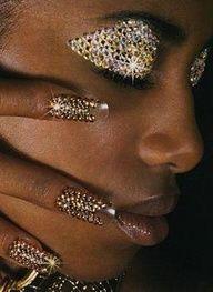 bling bling eyes and nails