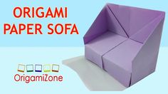 How to Make Origami Sofa   Origami Instructions For Kids   Make Paper So...