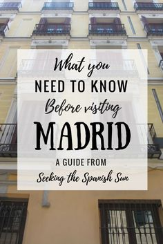 What you need to know before visiting Madrid in Spain. Essential city information & travel guide.