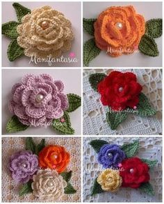 Crochet Flower Scarf, Crochet Shawl Free, Crochet Flower Tutorial, Crochet Leaves, Crochet Flower Patterns, Thread Crochet, Irish Crochet, Crochet Flowers, Bobble Stitch