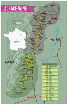 Alsace-Wine-Map-France #wine #alsace #France #FWS