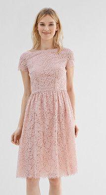 Esprit collection kleid aus floral gemusterter spitze