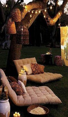 Outdoor movie night <3