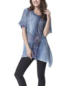 Another great find on #zulily! Blue Abstract Sidetail Tunic #zulilyfinds