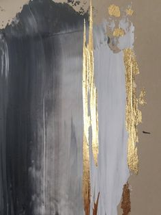 Modern contemporary gold white painting on canvas Abstract Art Abstract Art . - Modern contemporary gold white painting on canvas Abstract Art Abstract Art Painting Canvas Con - Gold Leaf Art, Gold Art, Unique Paintings, Contemporary Paintings, Abstract Canvas, Oil Painting On Canvas, Painting Abstract, Acrylic Paintings, Art Paintings