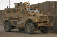 MRAP, mine resistant ambush protection vehicle. There will be thousands of these left over from the wars in Iraq and Afghanistan, much like HUMVEEs after the Persian Gulf War. Imagine one of these patrolling through Park Slope.
