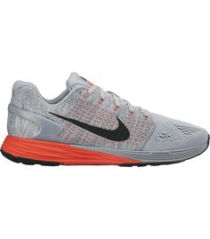 a29f2cb01fbc5 Nike Lunarglide 7 Grey Crimson Running Shoes