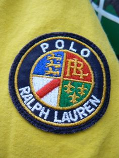 ZONE7STYLE: Vintage Ralph Lauren Polo Cookie Patch Jacket Ralph Lauren Shop, Ralph Lauren Style, Asian Men Fashion, Mens Fashion, Ralph Lauren Polo Jackets, Ralph Laurent, Vintage Patches, Badge Design, Polo T Shirts
