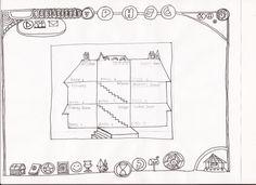 Planos de la casa/ Niveles superiores.