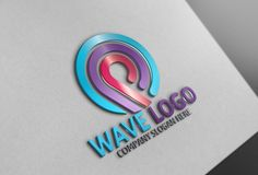 Wave Logo by Josuf Media on @creativemarket