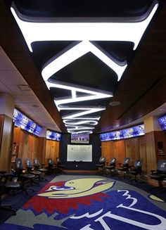 The Kansas men's basketball team might soon have a new apartment complex to live in, but for now, they'll have to settle for an awesome locker room. Bill Self's program…