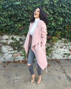 You make Me BLUSH Coat – We like to Call this our Olivia Pope Look KJCOUTURE