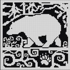 Cross-stitch WitchWolfWeb Creations: Spirit Bear Chart ... no color chart available, just use pattern chart as your color guide.. or choose your own colors...