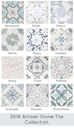 Introducing some of the newest patterns and colorways that have been added to our quick-ship program, Artisan Stone Tile.  Collections range from modern and contemporary to traditional and classic.  Patterns are offered on various sizes such as 6x6's and 12x12's and on carrara and limestone.  Tile is ready to ship within about 5 days.