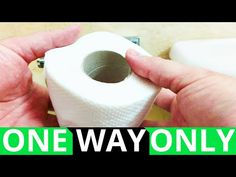 The Correct Way to Hang Toilet Paper - YouTube Toilet Paper, Life Hacks, The Creator, Youtube, Diy, Style, Swag, Bricolage, Do It Yourself