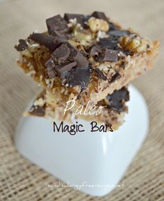 Paleo Magic Bars- Vegan, Gluten Free, Dairy Free