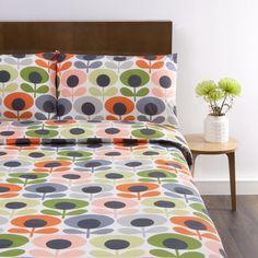 Discover the Orla Kiely Multi Flower Oval Duvet Cover - Tomato - Double at Amara
