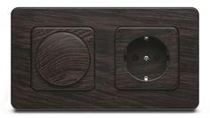 Silvaluxe - houten dimmer met stopcontact