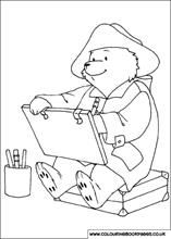 Paddington Bear learns to write