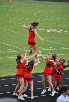 Cheerleader Takes Dump On Teammates In Mid-Air