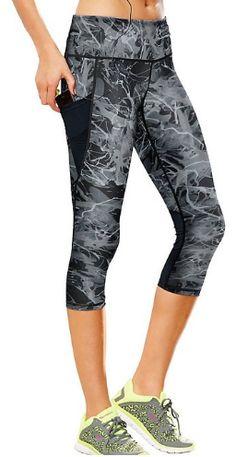 Champion Women's Capri Leggings Mesh Yoga Leggings, Camouflage Leggings, Crop Top And Leggings, Leggings Sale, Printed Leggings, Workout Leggings, Capri Leggings, Workout Gear, Womens Fashion For Work