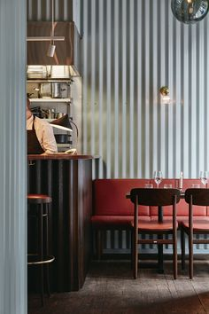 Metal Clad Restaurant Interiors : Corrugated Metal Wall Panels