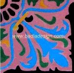 """Badia Design Inc.'s handmade Moroccan cement tiles are designed for floor as well as wall projects. The dimension of each tile is 8"""" x 8"""". We have huge inventory at our warehouse 5420 Vineland Ave,..."""