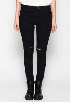 Pantalón Ripped negro