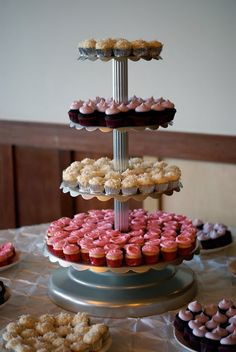 Divine looking cupcake tower from Coco Cake Cupcakes!