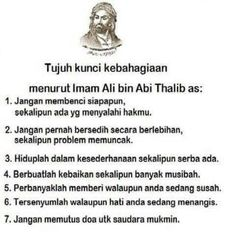 7 kunci kebahagiaan Ali bin Abi Thalib AS Reminder Quotes, Self Reminder, Words Quotes, Life Quotes, Qoutes, Imam Ali Quotes, Muslim Quotes, Quran Quotes, Islamic Inspirational Quotes