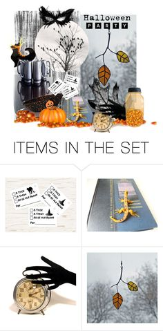 """Candy Corn Spooks"" by fibernique ❤ liked on Polyvore featuring art"