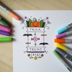 Halloween doodle lettering