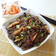 Soba Noodles with Shiitake Mushrooms - Cilantro and Citronella