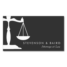 Justice Scale Attorney Black and White Double-Sided Standard Business Cards (Pack Of 100). This great business card design is available for customization. All text style, colors, sizes can be modified to fit your needs. Just click the image to learn more!