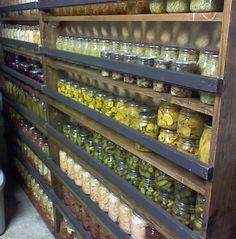 canning shelves