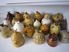 Bee Skep Honey Pots