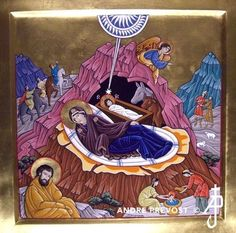 Icon of the Nativity. From the Portfolio of other icons by Andre Prevost