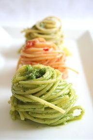 Pesto, sugo and Alfredo  sauces